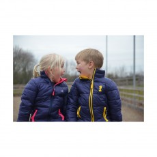 Little Rider Annabelle Padded Jacket  (Navy/Pink)