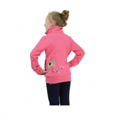 Little Rider Felicity Flower Fleece  (Fuchsia Pink/Navy)