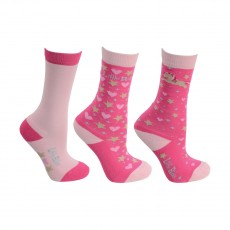 Little Rider Little Show Pony Socks (Pack of 3)   (Cameo Pink)