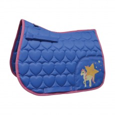 Little Rider Star in Show Saddle Pad  (Regatta Blue/Cameo Pink)