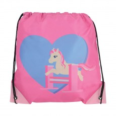 Little Rider Little Show Pony Drawstring Bag  (Cameo Pink)