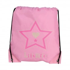 Little Rider Riding Star Drawstring Bag   (Begonia Pink)