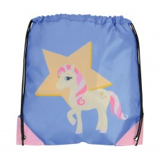 Little Rider Riding Star Drawstring Bag   (Deep Water Blue)
