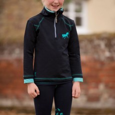 Mark Todd Kids Training Top (Navy/Aqua)