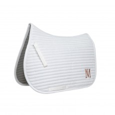 Mark Todd Quilted Saddle Pad  (White/Rose Gold)