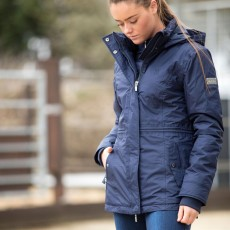 Mark Todd Women's Short Inga Waterproof Jacket (Navy)