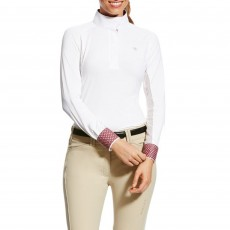 Ariat (Sample) Women's Marquis Show Top (White/Purple)