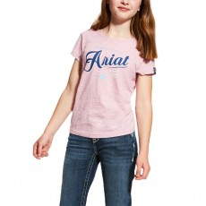 Ariat (Sample) Girl's Logo Tee (Lilac Pearl)