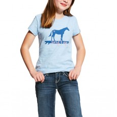 Ariat (Sample) Girl's Surf's Up Tee (Powder Blue)