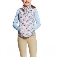 Ariat (Sample) Girl's Emma Reversible Insulated Vest (Garden Pony Print)