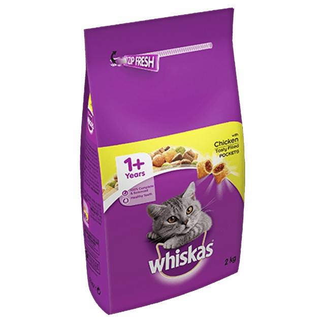 Whiskas 1+ Dry Cat Food (Chicken) 2kg