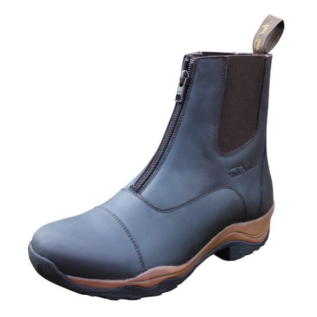 Mark Todd Adults Milford Zip Jodhpur Boots Brown Old