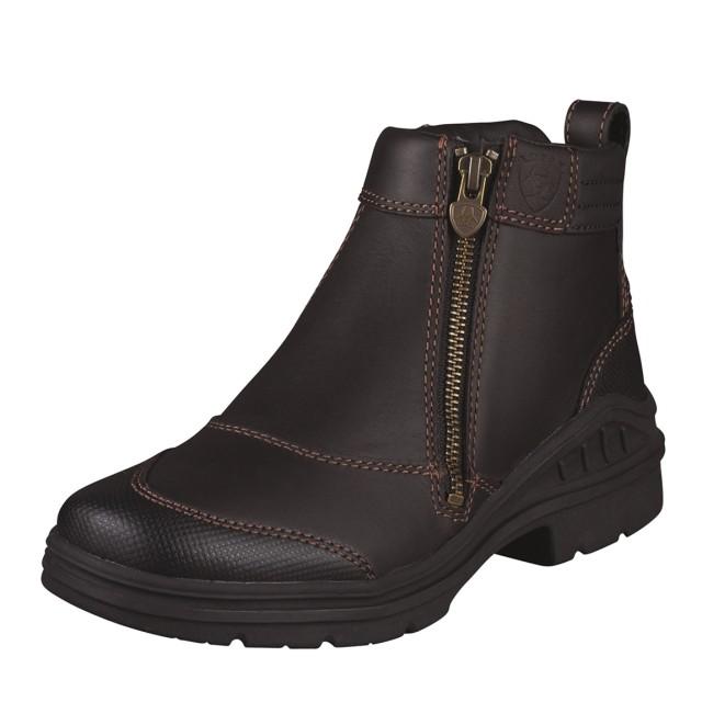 Ariat Women's Barnyard Side Zip Boots (Dark Brown)