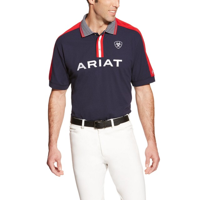 a7aeee00 Ariat Men's FEI Team Polo Navy - Old Dairy Saddlery