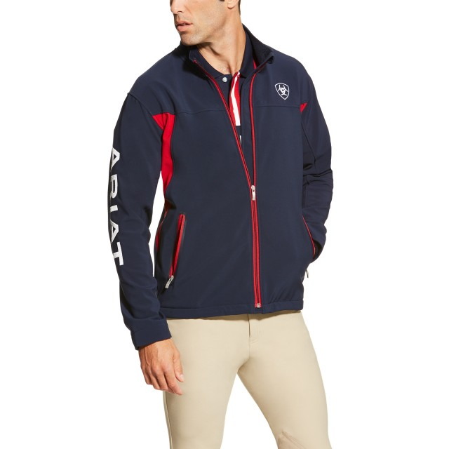87a168d73 Ariat Men's New Team Softshell Jacket (Navy)