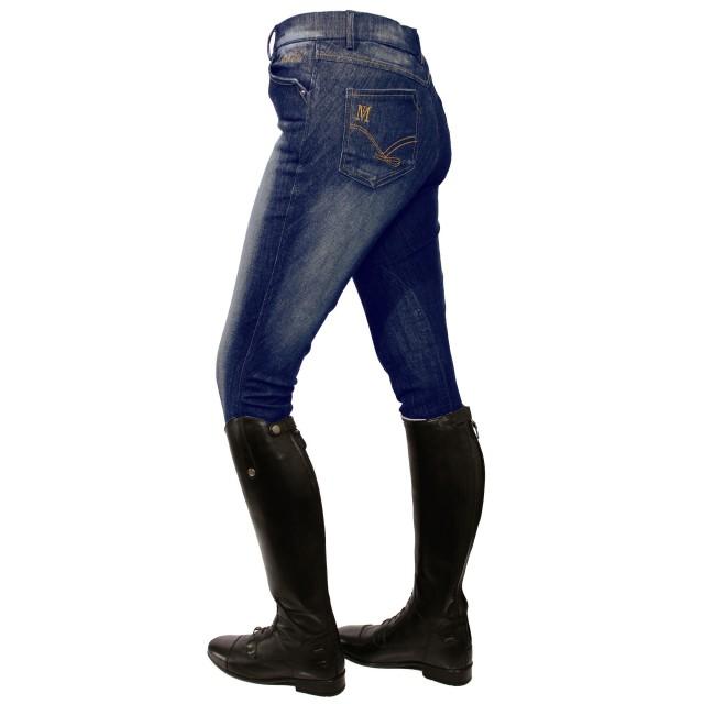 Mark Todd Women S Dark Denim Breeches Blue Jean Old