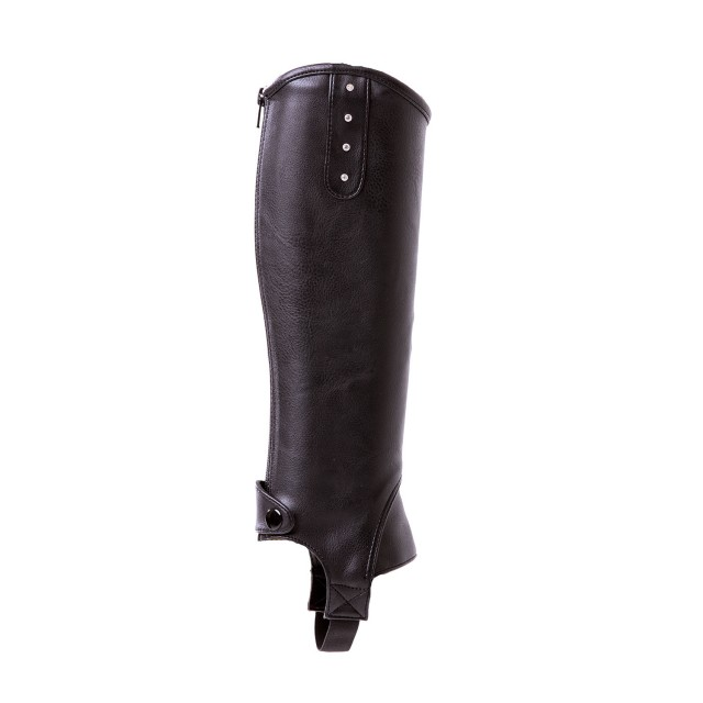 Mark Todd Kid's Toddy Synthetic Diamante Chaps (Black)