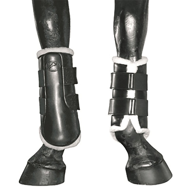 JHL Fleece Lined Horse Boots (Black)